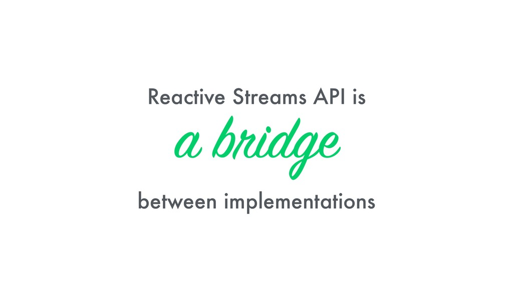 Reactive Streams API is 