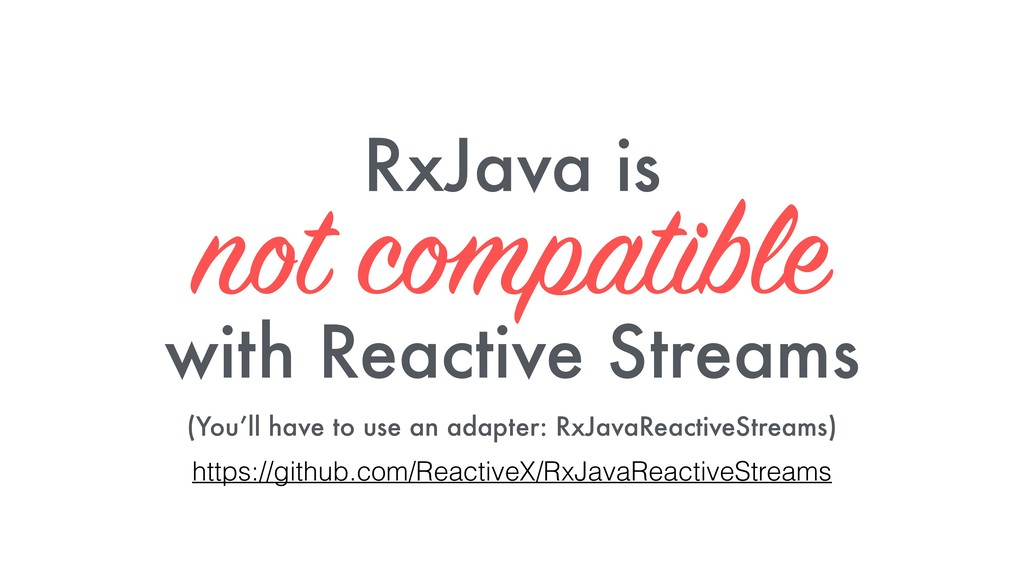 RxJava is not compatible 