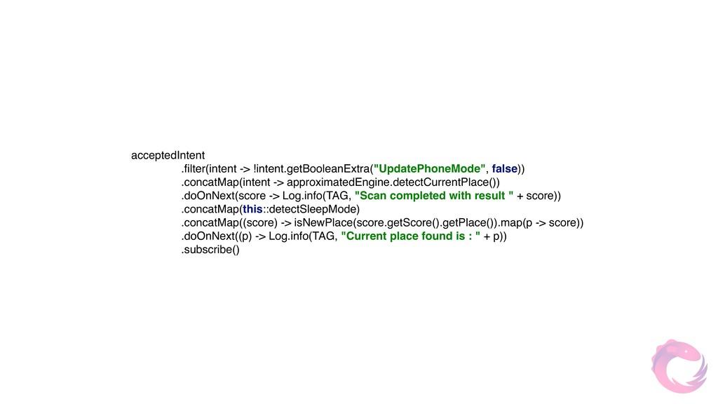 acceptedIntent .filter(intent -> !intent.getBoo...