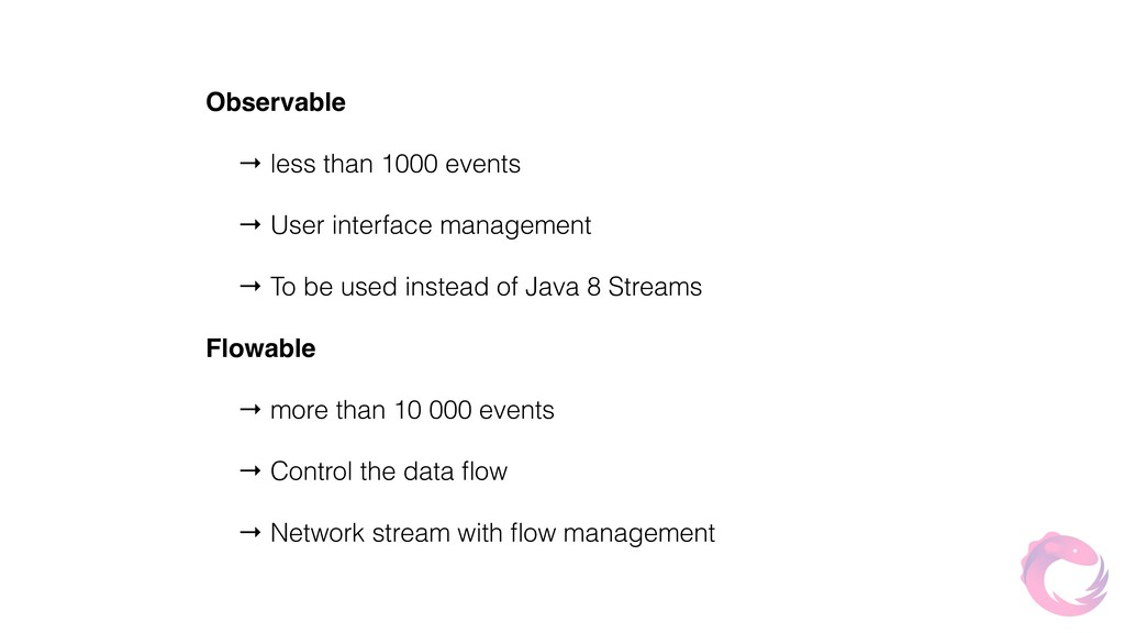 Observable → less than 1000 events → User inter...