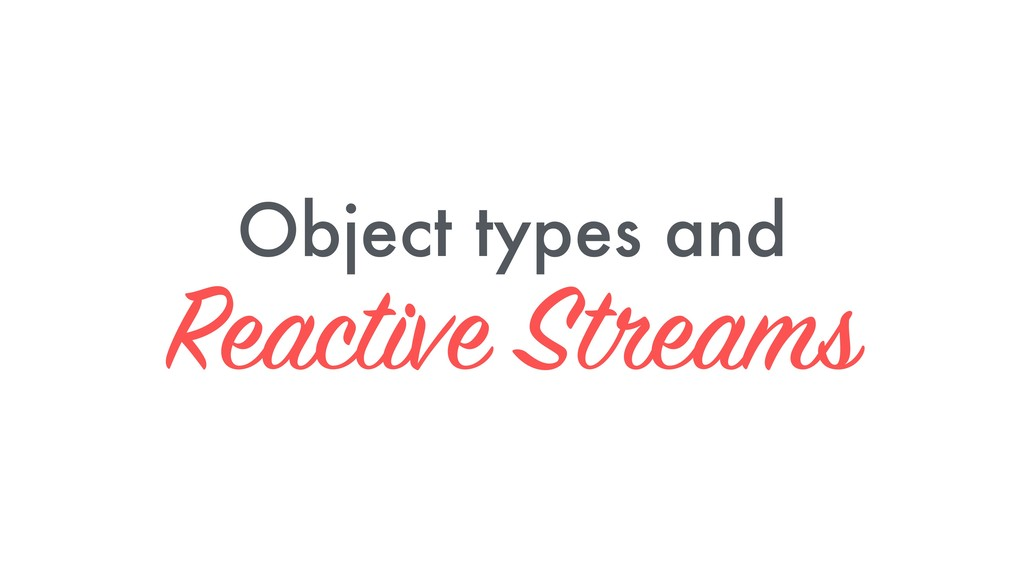 Object types and