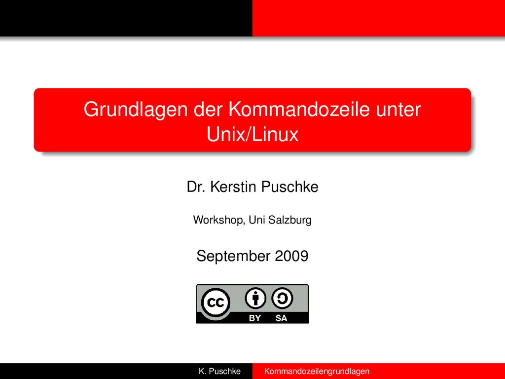 Grundlagen der Kommandozeile unter Unix/Linux D...
