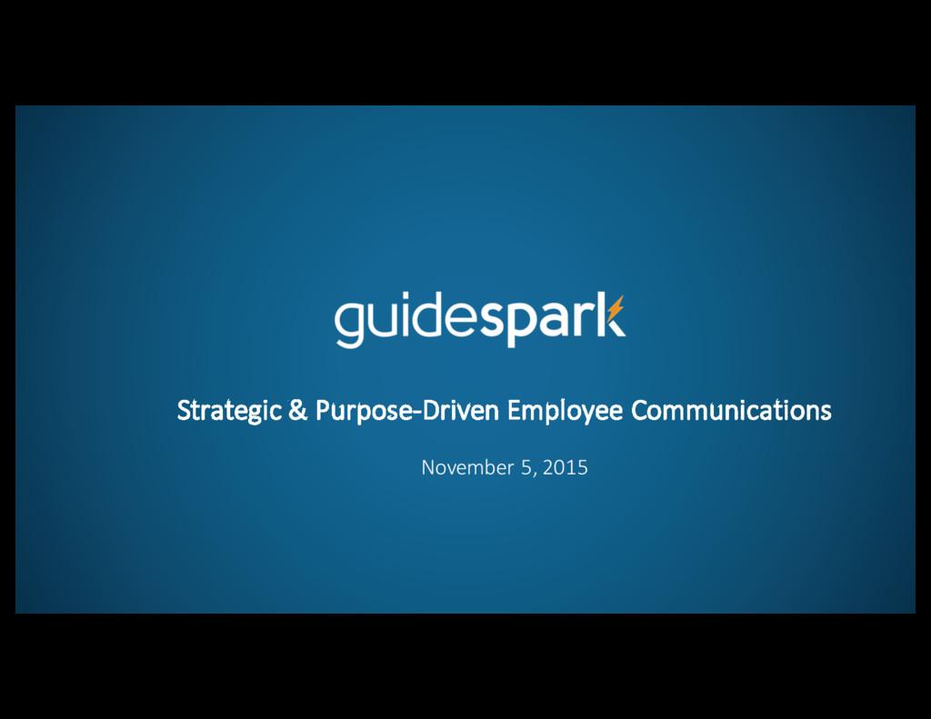 Strategic & Purpose-‐Driven Employee...