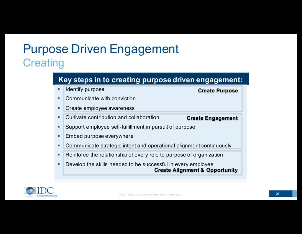 Purpose Driven Engagement Creating © IDC   ...