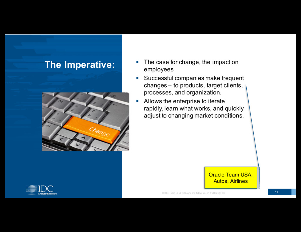 Examples? The Imperative: § The case for c...