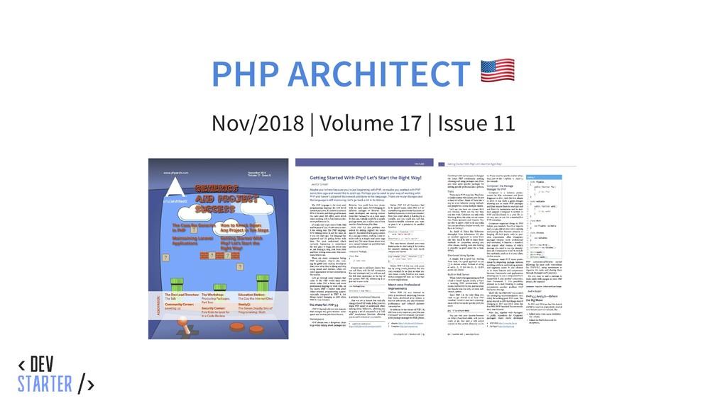 PHP ARCHITECT Nov/2018 | Volume 17 | Issue 11