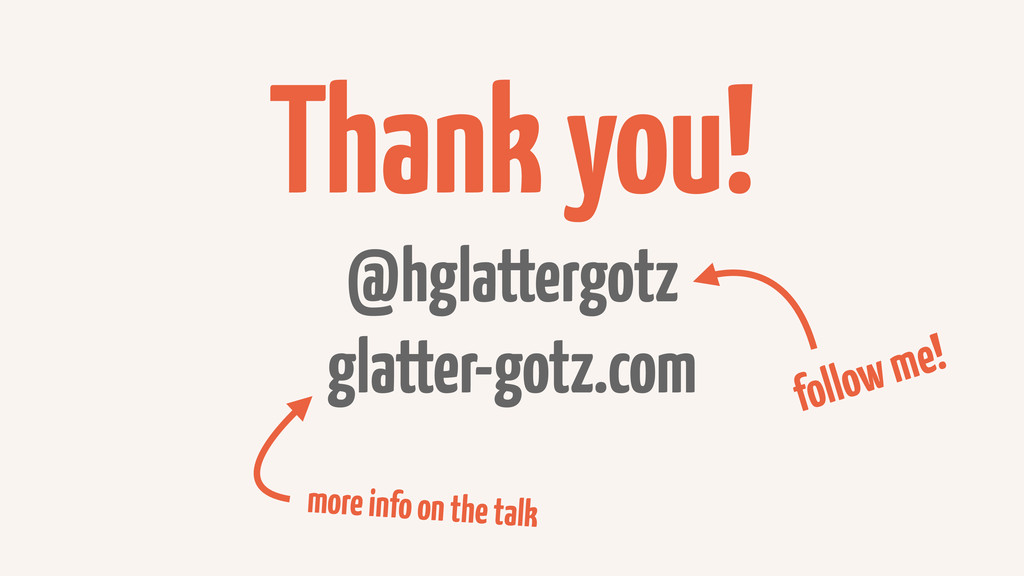 Thank you! @hglattergotz glatter-gotz.com follo...
