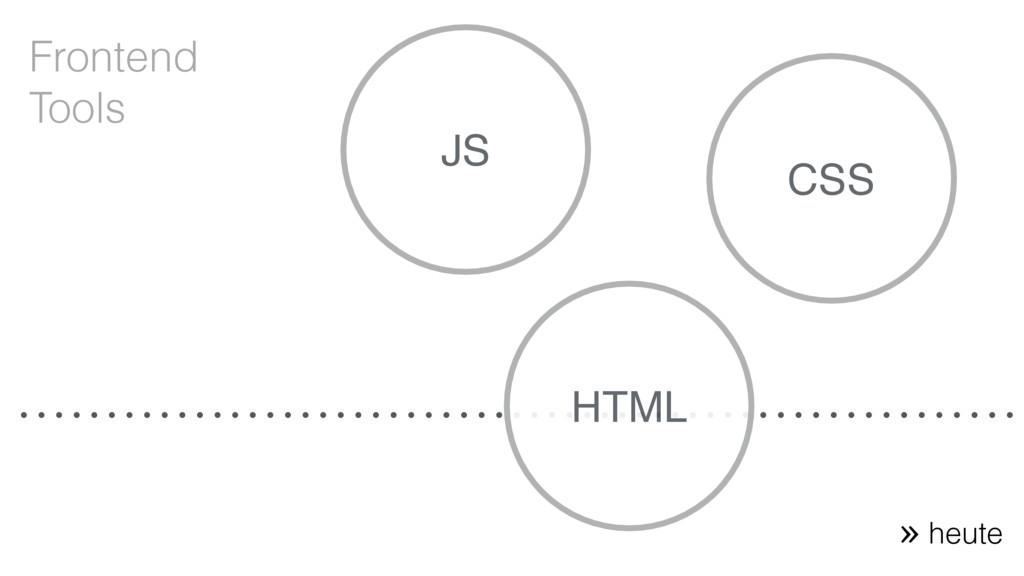 CSS HTML JS Frontend Tools heute «