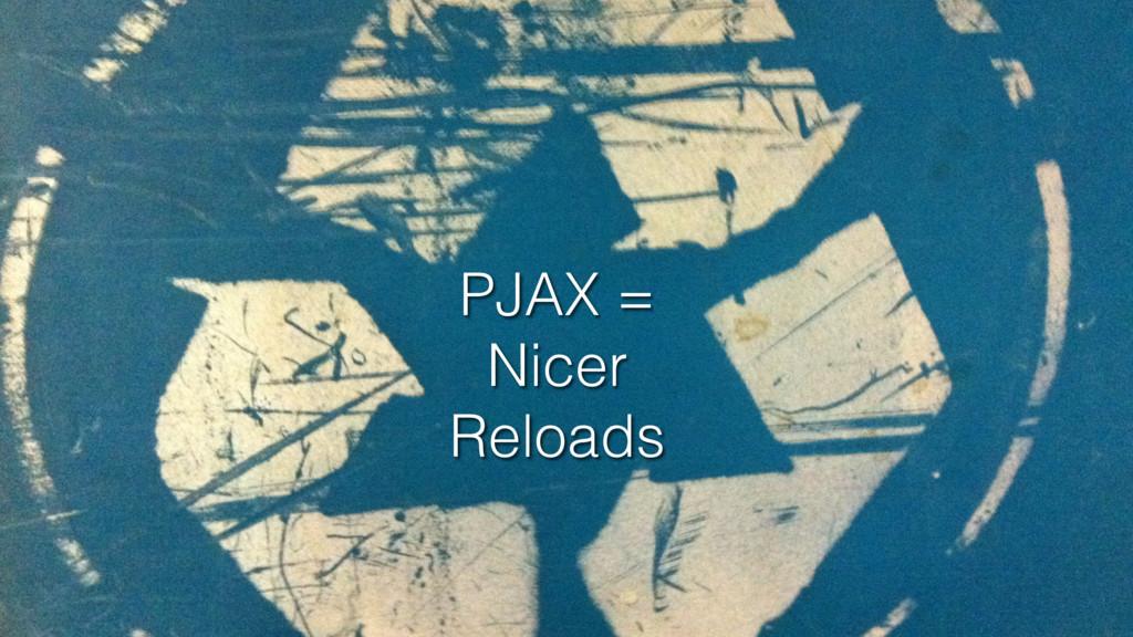 PJAX = Nicer Reloads