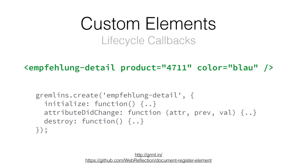 Custom Elements