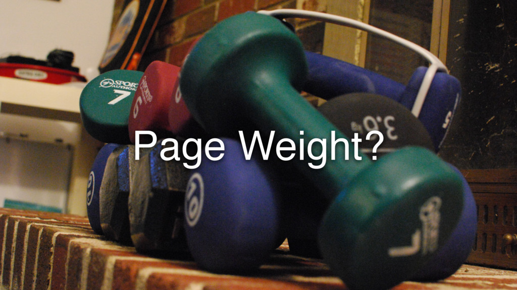 Page Weight?