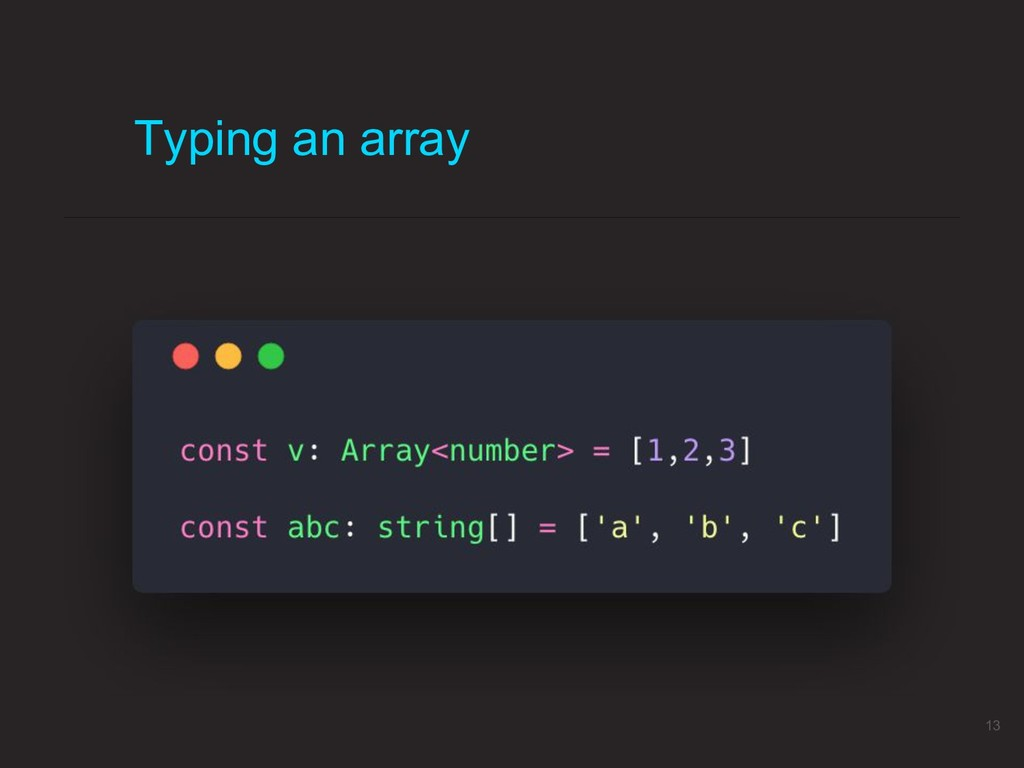Typing an array 13