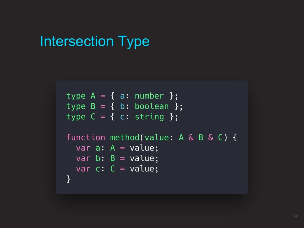 Intersection Type 15