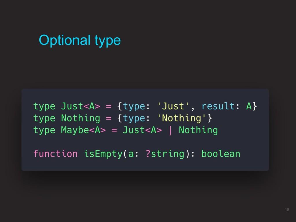 18 Optional type