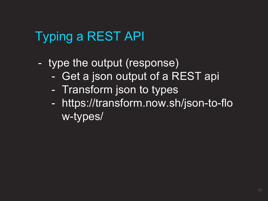 - type the output (response) - Get a json outpu...
