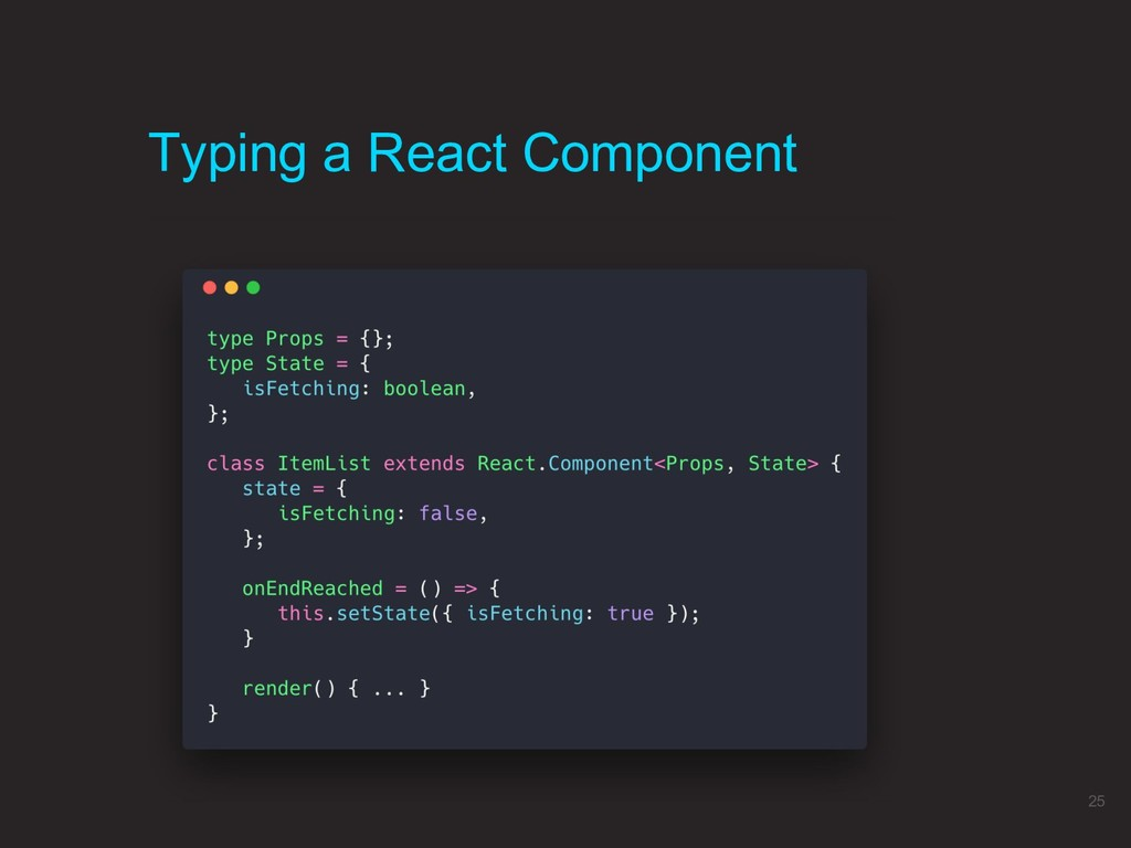 Typing a React Component 25
