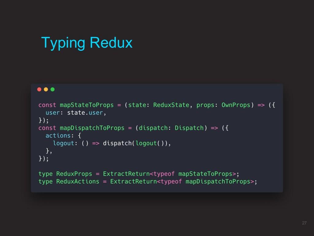 Typing Redux 27