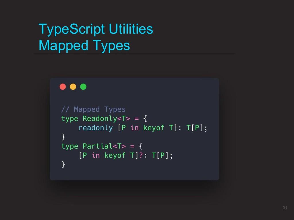 TypeScript Utilities Mapped Types 31