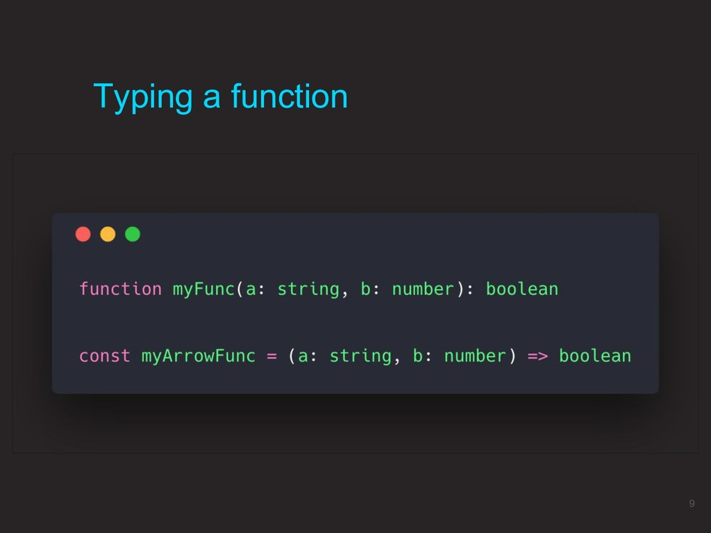 Typing a function 9