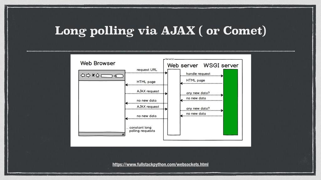 Long polling via AJAX ( or Comet) https://www.f...