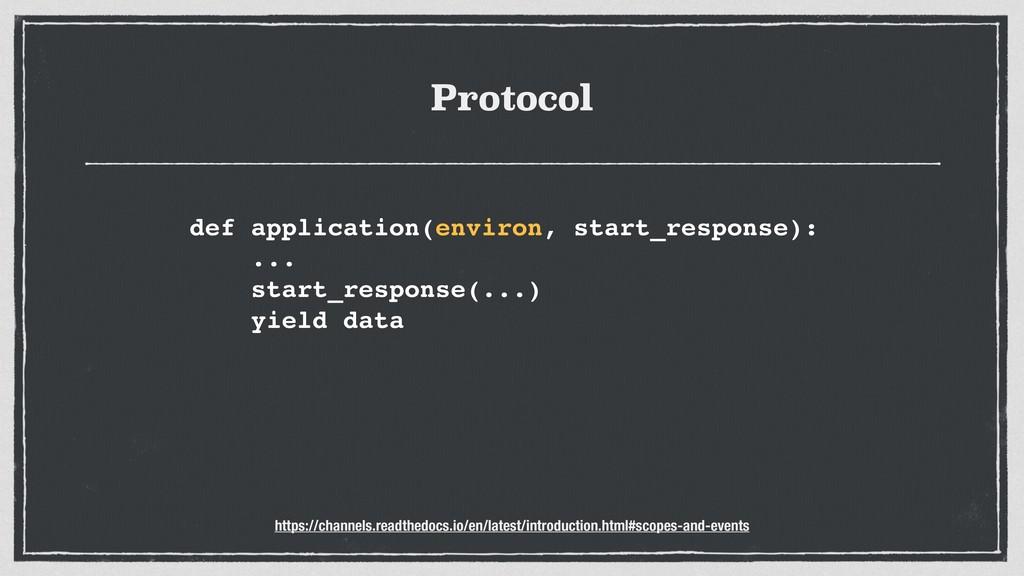 Protocol def application(environ, start_respons...