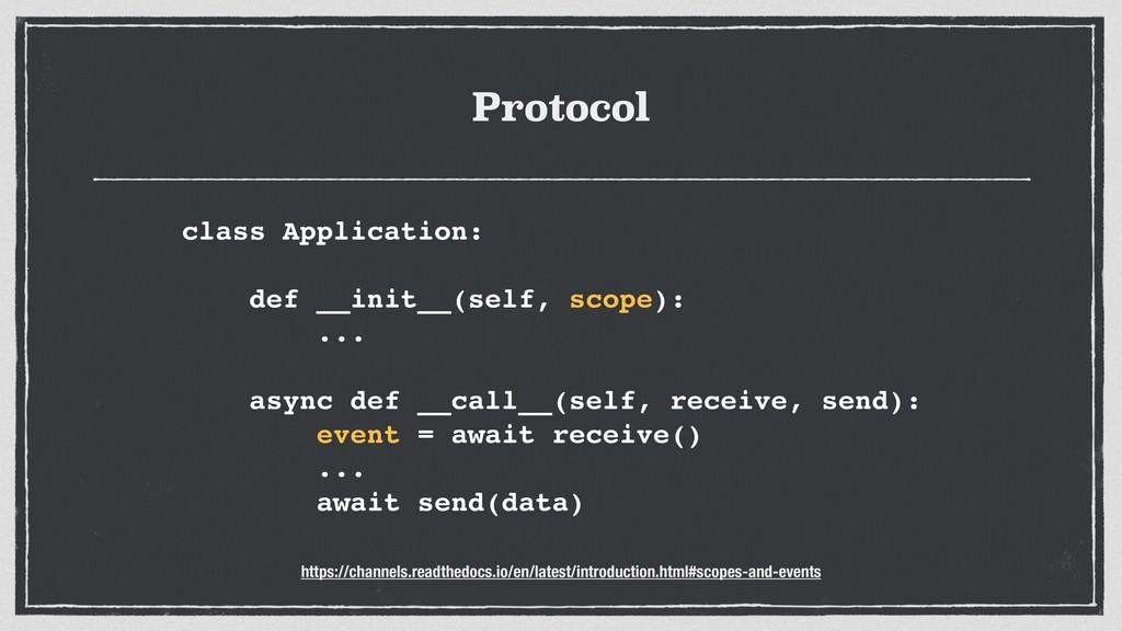 Protocol class Application: def __init__(self, ...