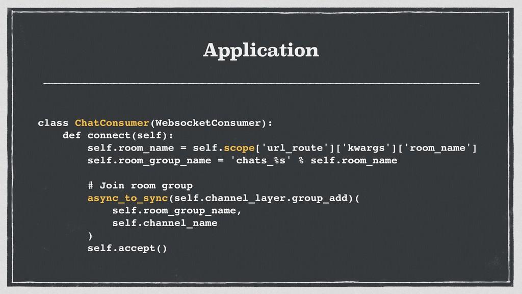 Application class ChatConsumer(WebsocketConsume...