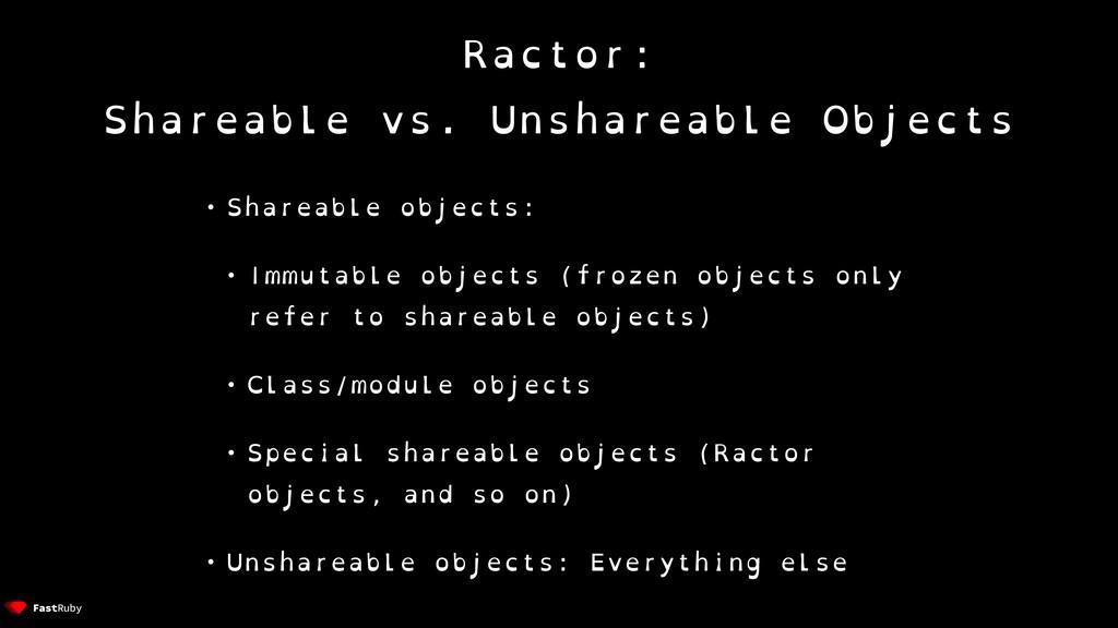 Ractor: Shareable vs. Unshareable Objects • Sha...