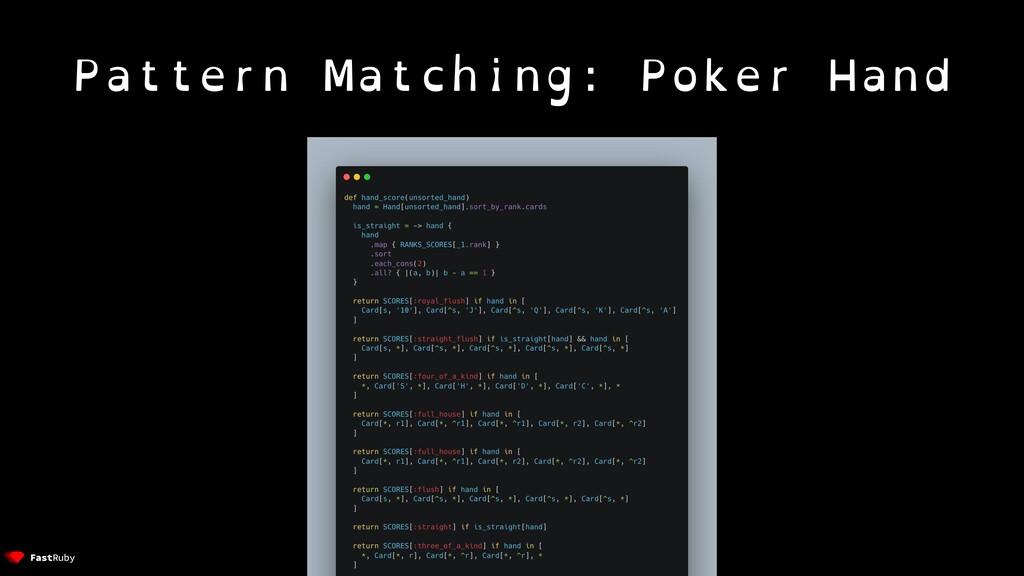 Pattern Matching: Poker Hand