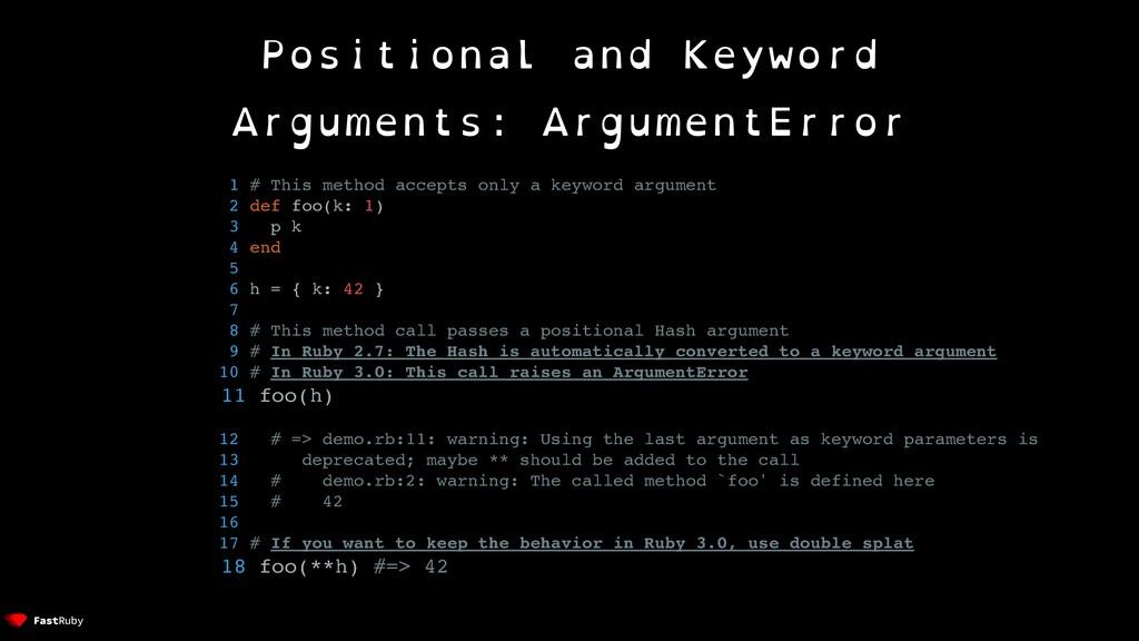 Positional and Keyword Arguments: ArgumentError...