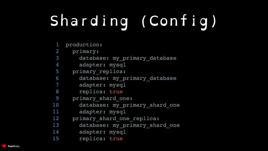Sharding (Config) 1 production: 2 primary: 3 da...