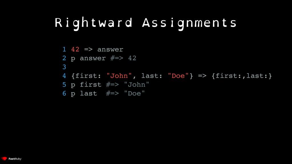 Rightward Assignments 1 42 => answer 2 p answer...