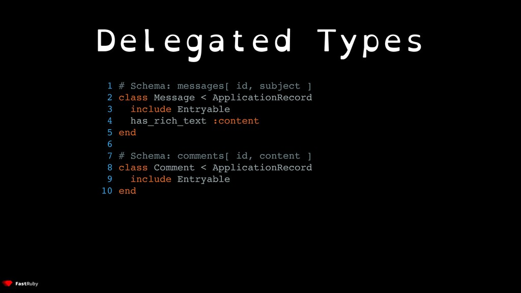 Delegated Types 1 # Schema: messages[ id, subje...