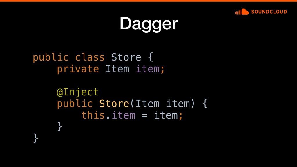 Dagger public class Store {c private Item item;...