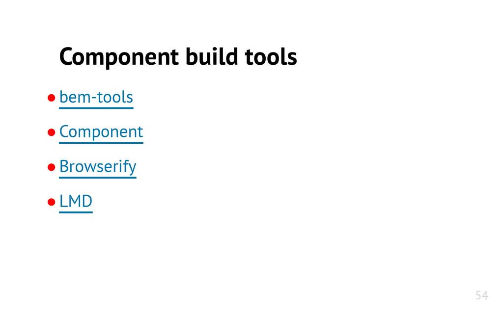 Component build tools ●bem-tools ●Component ●Br...