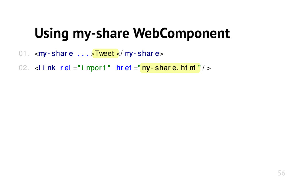 Using my-share WebComponent <my-share my-share ...