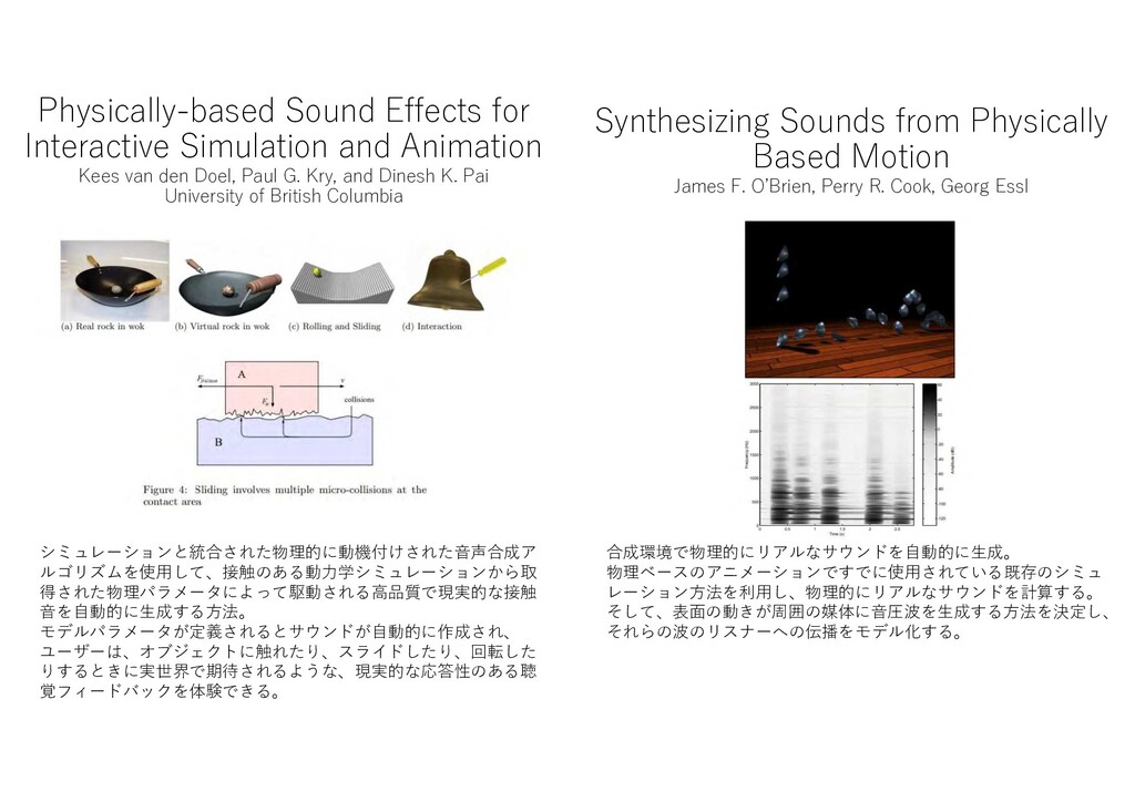 Physically-based Sound Effects for Interactive ...