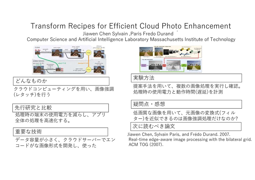 Transform Recipes for Efficient Cloud Photo Enh...