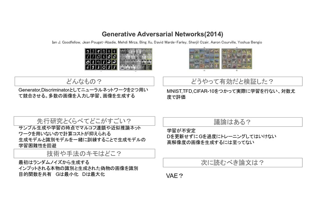 Generative Adversarial Networks(2014) 