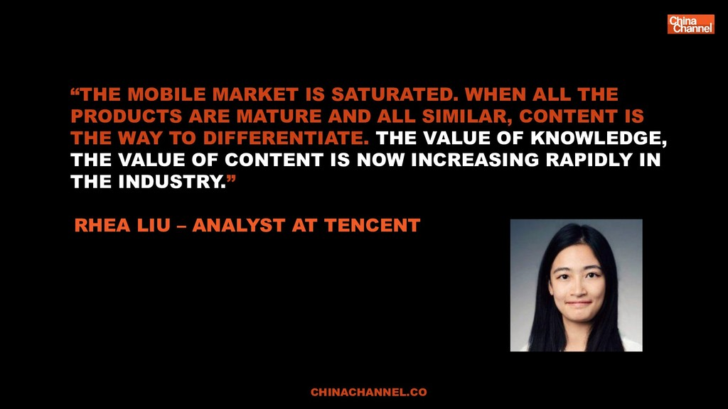 """THE MOBILE MARKET IS SATURATED. WHEN ALL THE P..."