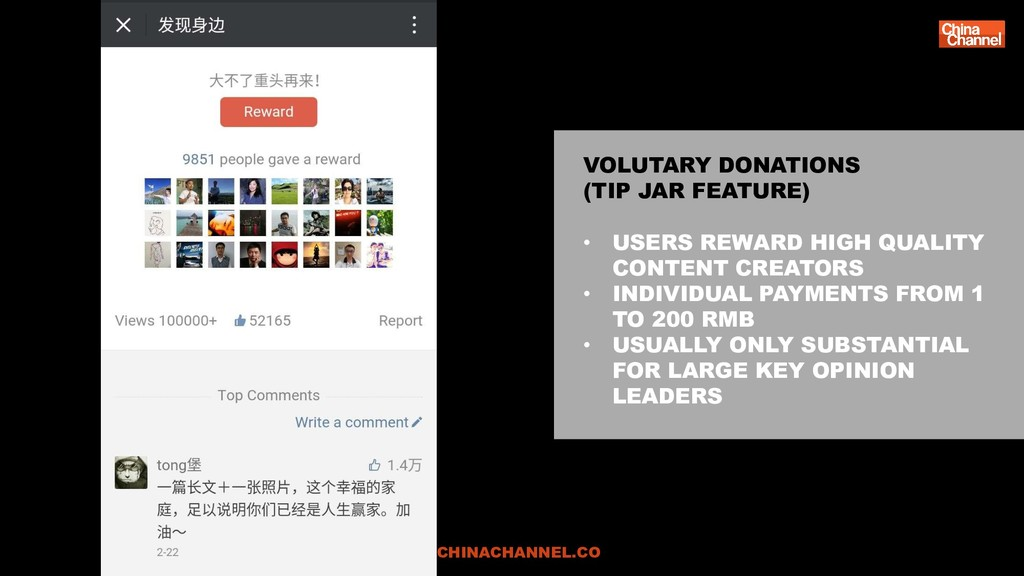 VOLUTARY DONATIONS (TIP JAR FEATURE) • USERS RE...