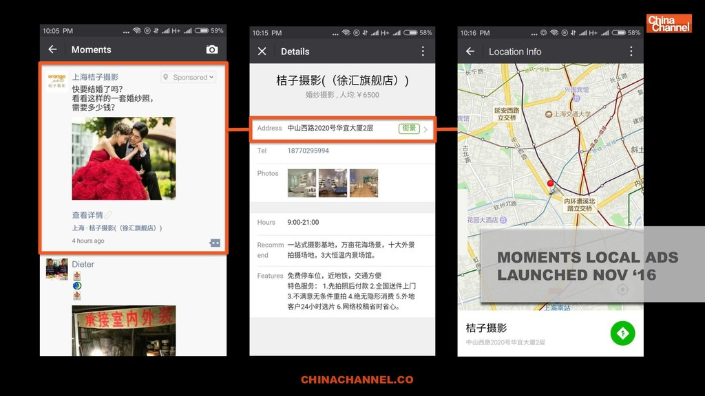 CHINACHANNEL.CO MOMENTS LOCAL ADS LAUNCHED NOV ...