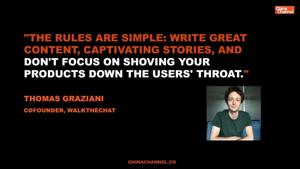 """THE RULES ARE SIMPLE: WRITE GREAT CONTENT, CAP..."