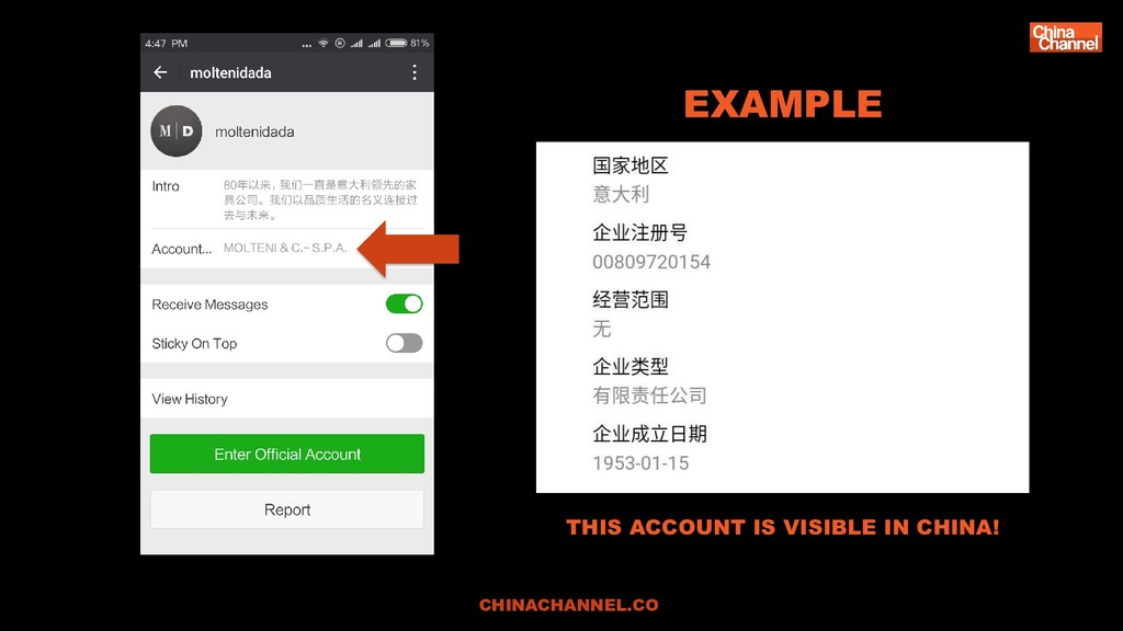 CHINACHANNEL.CO EXAMPLE THIS ACCOUNT IS VISIBLE...