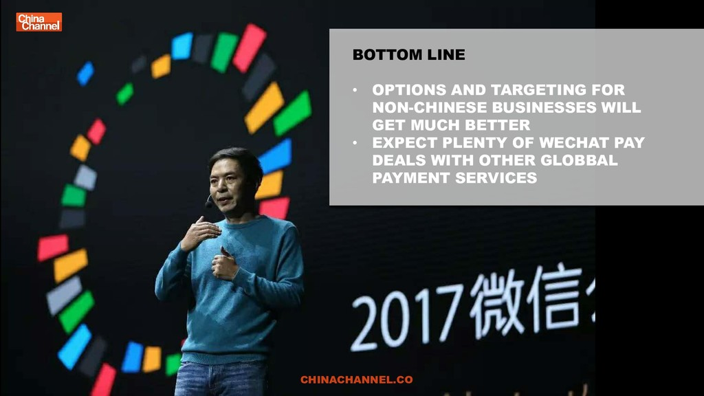 BOTTOM LINE • OPTIONS AND TARGETING FOR NON-CHI...