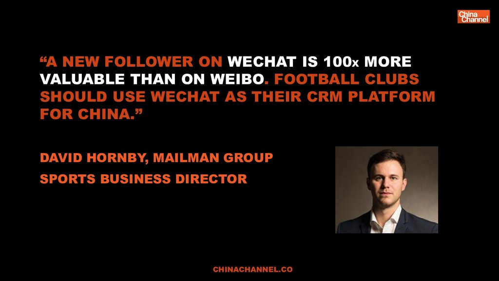 """A NEW FOLLOWER ON WECHAT IS 100X MORE VALUABLE..."
