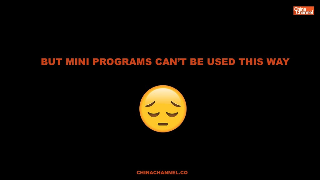 BUT MINI PROGRAMS CAN'T BE USED THIS WAY CHINAC...