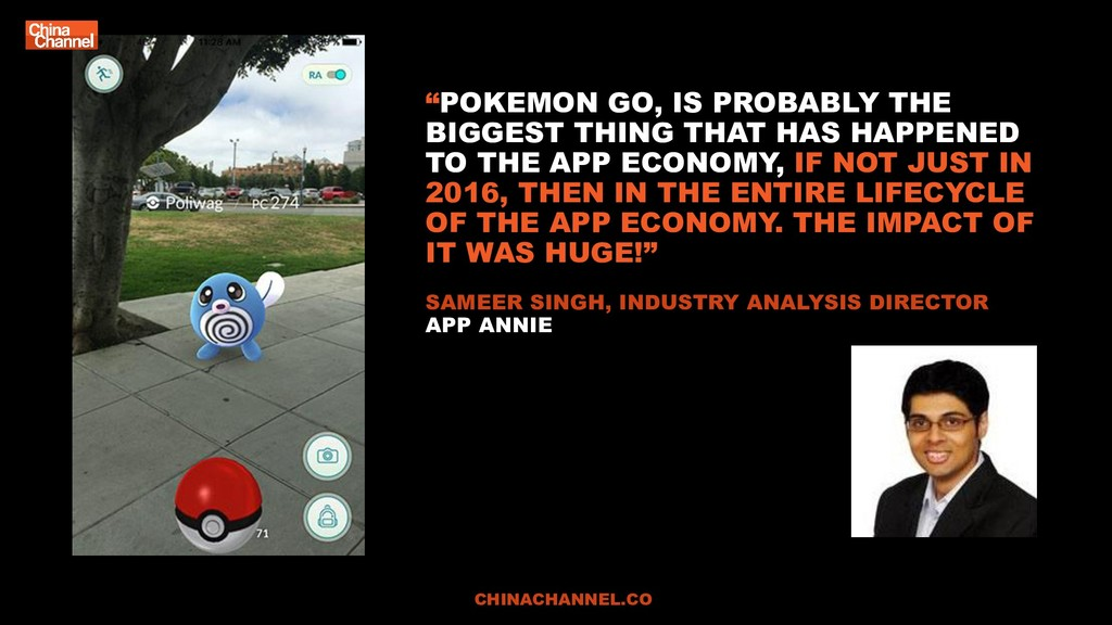 """POKEMON GO, IS PROBABLY THE BIGGEST THING THAT..."