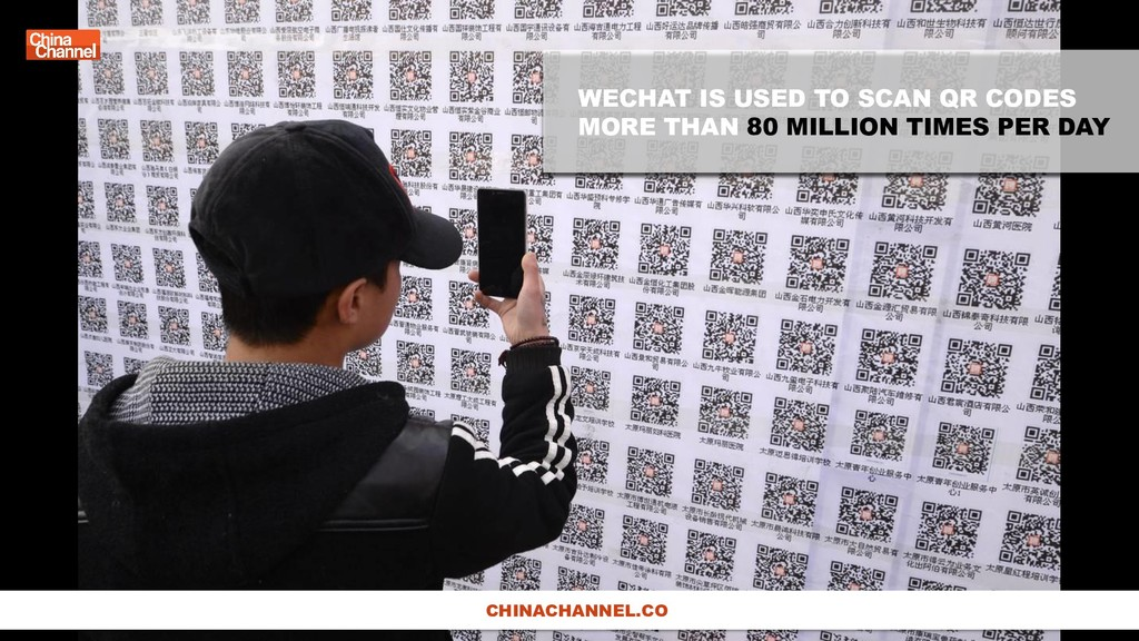 WECHAT IS USED TO SCAN QR CODES MORE THAN 80 MI...