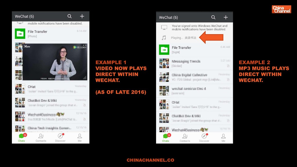 EXAMPLE 1 VIDEO NOW PLAYS DIRECT WITHIN WECHAT....